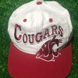 Vintage WSU cougars hat